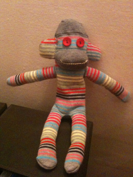 Sock Monkey - Stripes